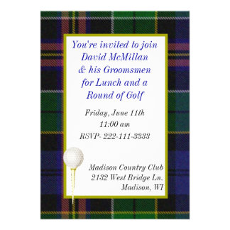 Groom s Golf Party Invitation