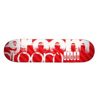 Groom; Scarlet Red Stripes 20.6 Cm Skateboard Deck