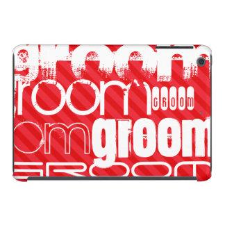 Groom; Scarlet Red Stripes iPad Mini Retina Cover