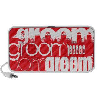 Groom; Scarlet Red Stripes PC Speakers