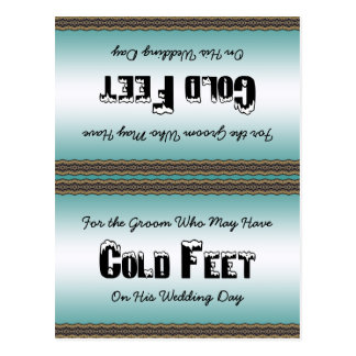 Groom Socks Cold Feet Postcard