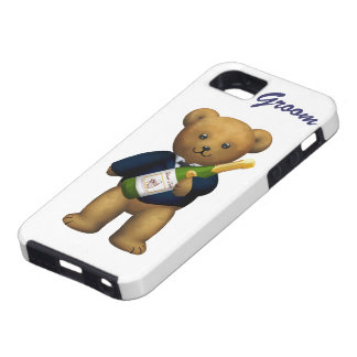 Groom Teddy Bear Tough iPhone 5 Case