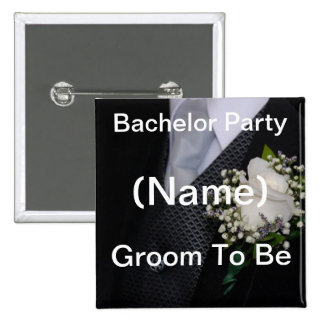 Groom To Be 15 Cm Square Badge