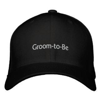 Groom-to-Be (B&W w/ Goudy Sans Text) Baseball Cap