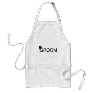 Groom Top Hat Standard Apron