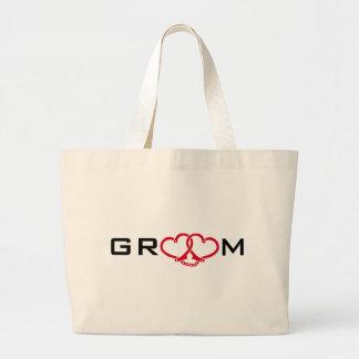 groom tote bags