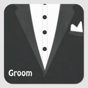 a80e212c35033 Grooms Tuxedo Stickers   Labels