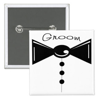 Groom Tux T-Shirts & Gifts 15 Cm Square Badge