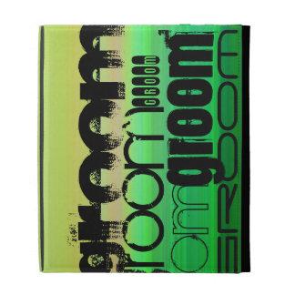 Groom; Vibrant Green, Orange, & Yellow iPad Folio Case