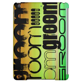 Groom; Vibrant Green, Orange, & Yellow iPad Air Covers