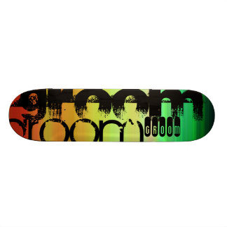 Groom; Vibrant Green, Orange, & Yellow Skate Board Decks