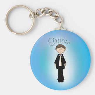 Groom - Wedding Design Basic Round Button Key Ring
