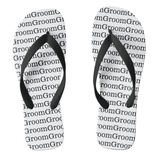 Groom Wedding Flip Flops