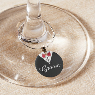 Groom Wedding Toast Wine Charm