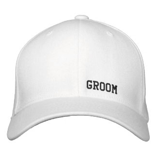 Groom White Hat Embroidered Baseball Caps
