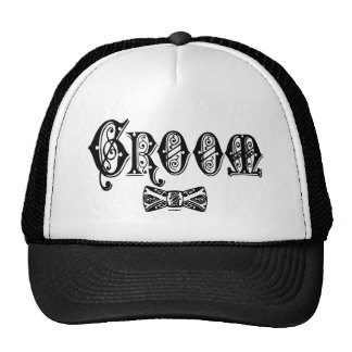 Groom with Bow Tie Black Type Cap