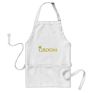 groom with crown icon standard apron
