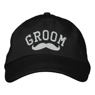 Groom with Mustache Baseball Cap