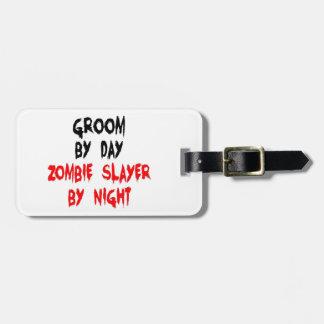 Groom Zombie Slayer Luggage Tag
