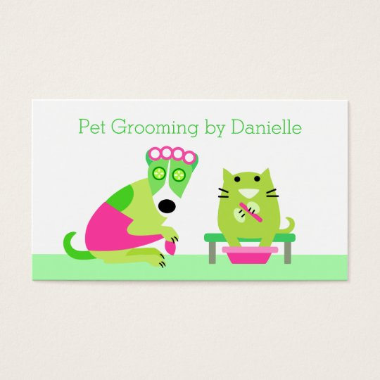 Groomer - Dog & Cat Spa Business Card