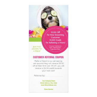 Grooming customer referral coupons rack card