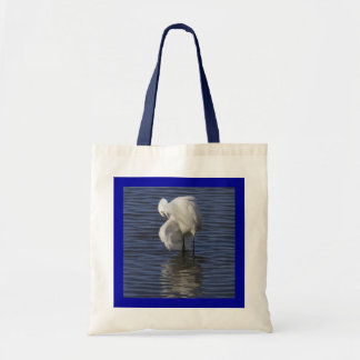 Grooming Egret Budget Tote Bag