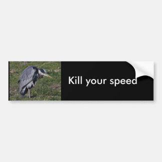 Grooming Heron Bumper Sticker