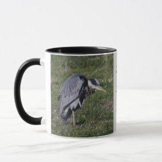 Grooming Heron Mug