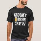 Groom's Brew Crew funny groomsman beer T-Shirt