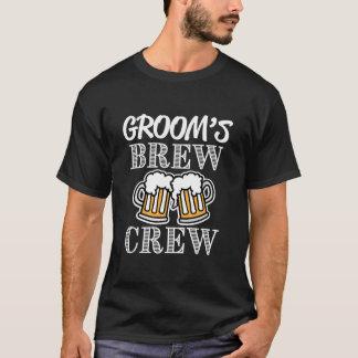 Groom's Brew Crew Groomsmen - Groomsman Beer Shirt