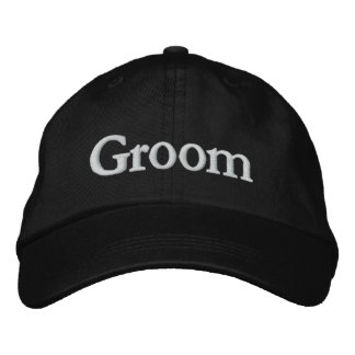 Groom's Cap Embroidered Baseball Caps