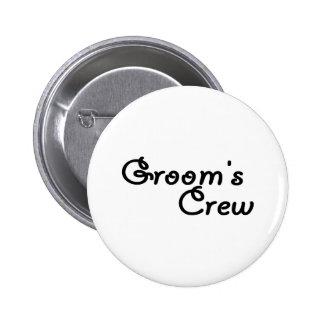 Grooms Crew 6 Cm Round Badge