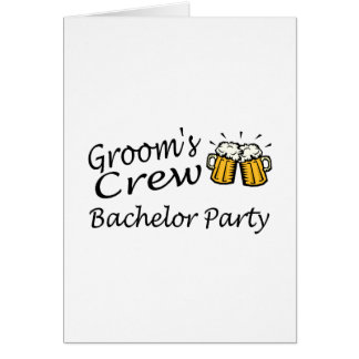 Grooms Crew (Bachelor Party) Greeting Card