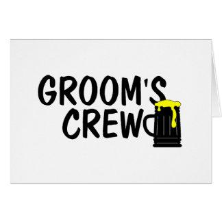 Grooms Crew (Beer) Greeting Card