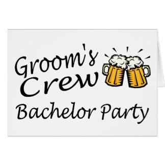 Grooms Crew Beer Jugs Greeting Card