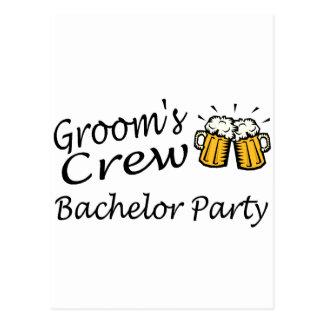 Grooms Crew Beer Jugs Postcard