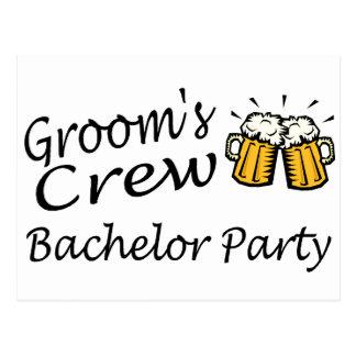Grooms Crew (Beer Jugs) Postcard