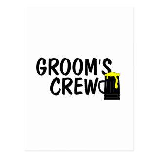 Grooms Crew (Beer) Postcard
