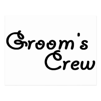 Groom's Crew (Blk) Postcard