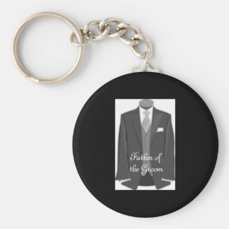 Grooms Dad Key Ring Father of the Groom Keychain