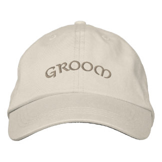 Groom's Embroidered Ball Cap Embroidered Baseball Cap