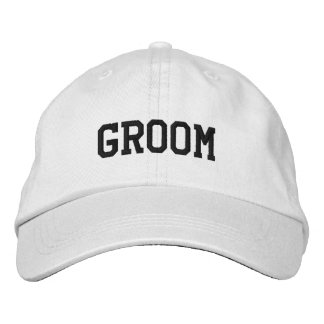 Grooms Embroidered Cap Embroidered Baseball Cap