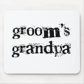Groom's Grandpa Black Text Mouse Pad