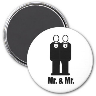 GROOMS MR. AND MR. -.png 7.5 Cm Round Magnet