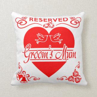 Groom's Mum Cushion. Reserved for the Groom's Mum Cushion