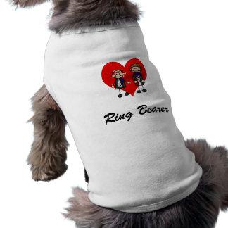 Grooms on a heart sleeveless dog shirt