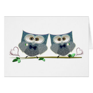 Grooms Owls Wedding Gifts Greeting Card