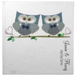 Grooms Owls Wedding Gifts Napkin