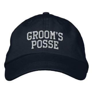 Groom's Posse Embroidered Ball Cap Embroidered Baseball Cap