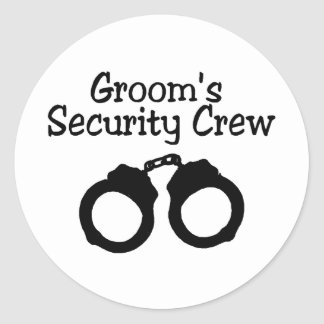 Grooms Security Crew Handcuffs Stickers